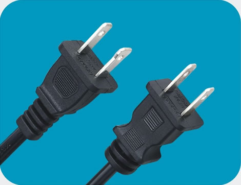 American Power Cord 2 pin class=