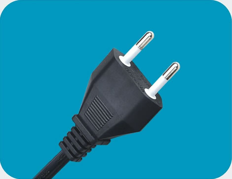 Italy Power Cord 2 pin class=