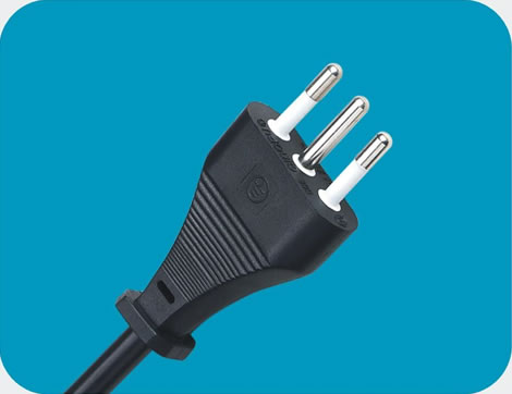 Italy Power Cord 3 pin class=