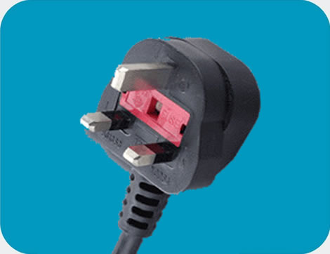 UK Power Cord 3 pin class=